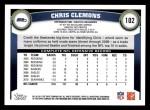 2011 Topps #102  Chris Clemons  Back Thumbnail