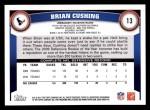2011 Topps #13  Brian Cushing  Back Thumbnail