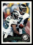 2011 Topps #42   Eagles Team Front Thumbnail