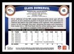 2011 Topps #45  Elvis Dumervil  Back Thumbnail