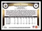 2011 Topps #94  Pierre Thomas  Back Thumbnail