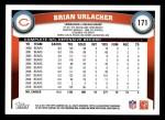 2011 Topps #171  Brian Urlacher  Back Thumbnail
