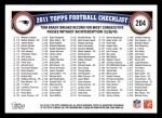 2011 Topps #204   -  Tom Brady Record Breaker Back Thumbnail