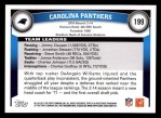 2011 Topps #199   Panthers Team Back Thumbnail