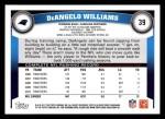 2011 Topps #39  DeAngelo Williams  Back Thumbnail