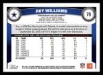 2011 Topps #78  Roy Williams  Back Thumbnail