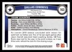 2011 Topps #163   Cowboys Team Back Thumbnail