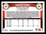 2011 Topps #64  Dwayne Bowe  Back Thumbnail