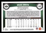 2011 Topps #142  Brad Smith  Back Thumbnail