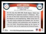 2011 Topps #213  Gabe Carimi  Back Thumbnail