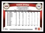 2011 Topps #252  Takeo Spikes  Back Thumbnail