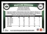 2011 Topps #341  Braylon Edwards  Back Thumbnail