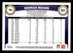 2011 Topps #301  Derrick Mason  Back Thumbnail