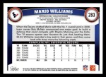 2011 Topps #283  Mario Williams  Back Thumbnail