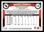 2011 Topps #416  Darnell Dockett  Back Thumbnail