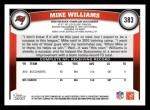 2011 Topps #383  Mike Williams  Back Thumbnail