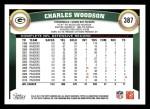 2011 Topps #387  Charles Woodson  Back Thumbnail