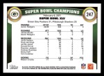 2011 Topps #247   Packers SB Champs Back Thumbnail