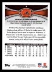 2012 Topps #3  Brandon Weeden  Back Thumbnail