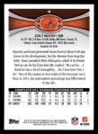 2012 Topps #4  Colt McCoy  Back Thumbnail