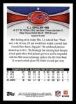 2012 Topps #9  C.J. Spiller  Back Thumbnail