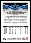 2012 Topps #23  Charles Johnson  Back Thumbnail