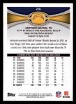 2012 Topps #26  Antonio Gates  Back Thumbnail