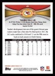 2012 Topps #41  Tamba Hali  Back Thumbnail