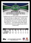 2012 Topps #44  Bruce Irvin  Back Thumbnail
