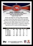 2012 Topps #51  Gerell Robinson  Back Thumbnail