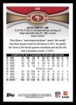 2012 Topps #52  Alex Smith  Back Thumbnail