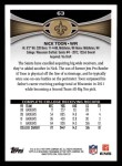 2012 Topps #63  Nick Toon  Back Thumbnail