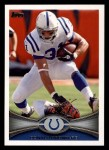 2012 Topps #67  Donald Brown  Front Thumbnail