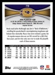2012 Topps #78  Joe Flacco  Back Thumbnail
