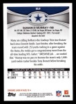 2012 Topps #82  DeMarco Murray  Back Thumbnail