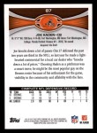 2012 Topps #87  Joe Haden  Back Thumbnail
