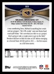 2012 Topps #89  Michael Brockers  Back Thumbnail