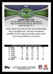 2012 Topps #94  Sidney Rice  Back Thumbnail