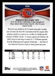 2012 Topps #103  Damian Williams  Back Thumbnail