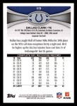 2012 Topps #113  Dallas Clark  Back Thumbnail