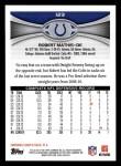 2012 Topps #123  Robert Mathis  Back Thumbnail