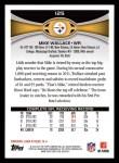 2012 Topps #125  Mike Wallace  Back Thumbnail