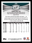 2012 Topps #128  Trent Cole  Back Thumbnail