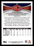 2012 Topps #131  Tavon Wilson  Back Thumbnail