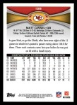 2012 Topps #138  Matt Cassel  Back Thumbnail