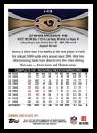 2012 Topps #143  Steven Jackson  Back Thumbnail