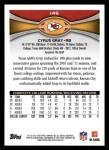 2012 Topps #146  Cyrus Gray  Back Thumbnail
