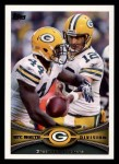 2012 Topps #163   -  Aaron Rodgers / James Starks Green Bay Packers Front Thumbnail
