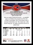 2012 Topps #168  Kyle Arrington  Back Thumbnail