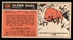 1965 Topps #24  Glenn Bass  Back Thumbnail